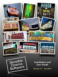 NEW Sensible Cinema User Guide v4.1x Printed/Bound Soft Back, English  - June 2019