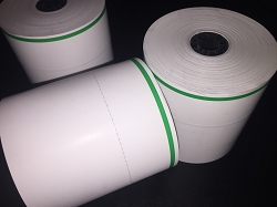 Heavyweight Thermal Roll Paper w/ Green Side Stripe and Perforation @2/3 width, RTS/Agile Ticket/Sensible v4.1.25 and later