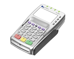 Verifone Vx805 CTLS Terminal, EMV, NFC, E2EE, Vantiv Integrated Payments (MERCURY) Key Injection, (REQUIRES VERIFONE CABLE - Sold Separately)