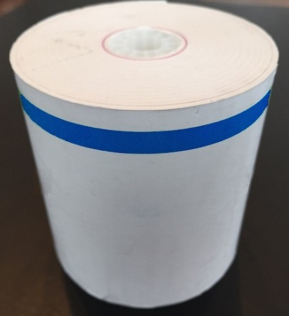 Heavyweight Thermal Roll Paper w/ Blue Side Stripe 80mm
